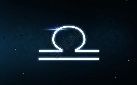 占星术占星术黑暗的夜空恒星背景上的十生肖天秤标志天秤座星座夜空星星上图片