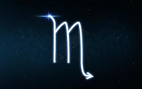 占星术占星术天蝎星座黑暗的夜空恒星背景上天蝎座星座夜空星星上图片