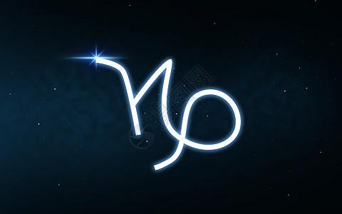 占星术占星术摩羯座的星座黑暗的夜空星星的背景上摩羯座的星座夜空星星上图片