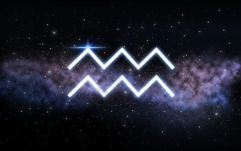 占星术占星术水瓶座十生肖黑暗的夜空与恒星星系背景水瓶座的星座夜空星系上图片