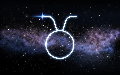 占星术占星术金牛十生肖黑暗的夜空与恒星星系背景金牛座星座夜空星系上图片