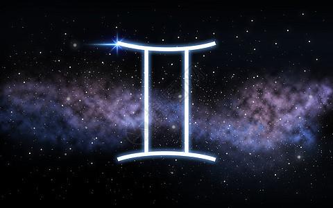 占星术占星术双子星座黑暗的夜空与恒星星系背景双子座星座夜空星系上图片