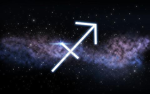 占星术占星术射手星座黑暗的夜空与恒星星系背景星座夜空星系上图片