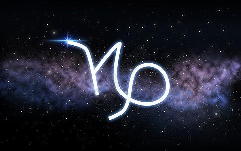 占星术占星术摩羯座十生肖黑暗的夜空与恒星星系背景摩羯座的星座夜空星系上图片