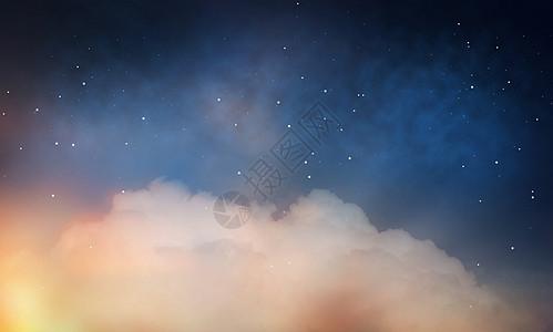 天象,夜间天文学星空与云星空云图片