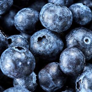 新鲜浆果夏季观背景健康机素食清洁饮食的俯视图鲜成熟甜蓝莓准备水果果酱蓝莓夏季背景图片