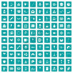 10个茶党图标由白色背景矢量图上孤立的蓝色格兰风红茶党图标组10个茶党图标蓝色格兰图片