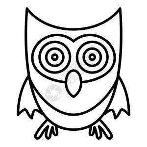 可爱猫头鹰图标用于孤立白色背景的网络设计可爱猫头鹰矢量图标大纲可爱猫头鹰图标大纲样式图片