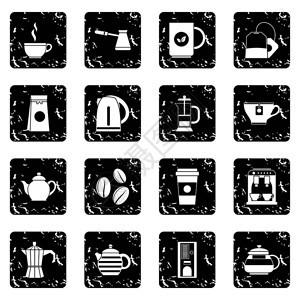 白色背景上隔离的红茶样式中图标矢量说明茶和咖啡图标红茶样式图片