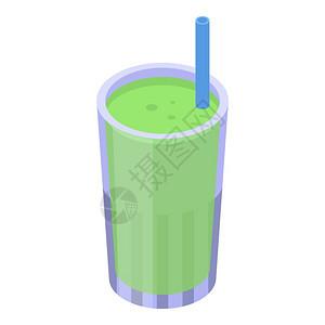 红茶果汁玻璃图标红茶果汁玻璃矢量图标的等度用于孤立白色背景的网络设计红茶果汁杯图标等量风格图片