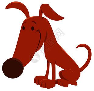 滑稽棕色狗或小动物人的漫画插图图片