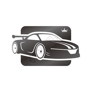 运动车模板主题矢量艺术插图图片