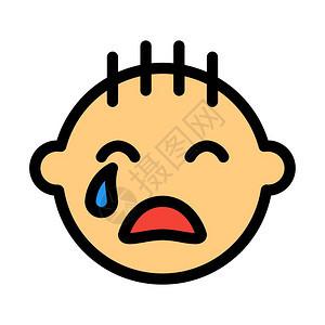 哭泣的婴儿男孩图片