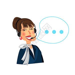 呼叫中心妇女经营者业务图片