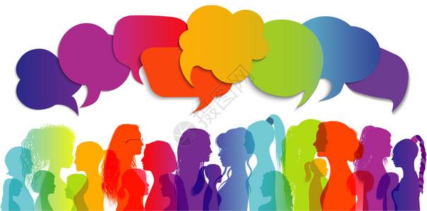 妇女社会网络区不同文化的妇女和孩之间的沟通和友谊图片