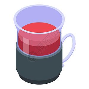 红茶杯图标矢量图标用于孤立白背景的网络设计红茶杯图标等量样式图片