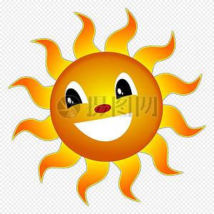 微笑着的太阳高清图片