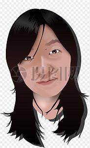 亚洲女性的头部图片