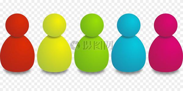 五颜六色的个人图标图片