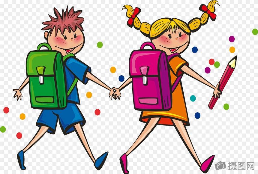 上学路上的孩子图片素材_免费下载_svg图片格式_高清