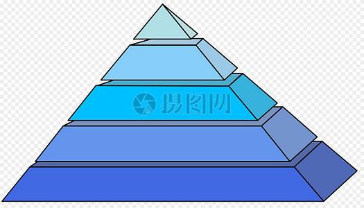 蓝色金字塔图片