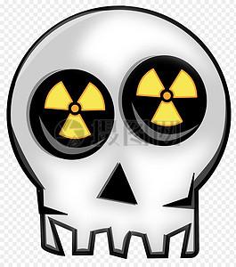 放射性警告标识图片