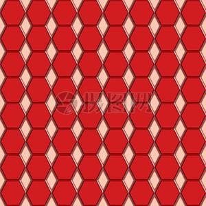 红色六边形图片