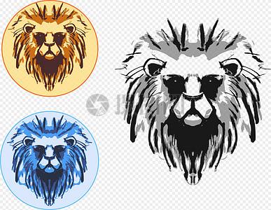狮子头像图片