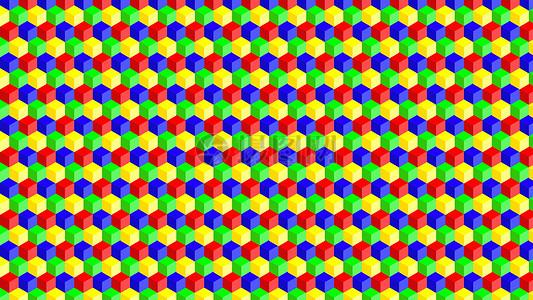 五颜六色的六边形背景图片