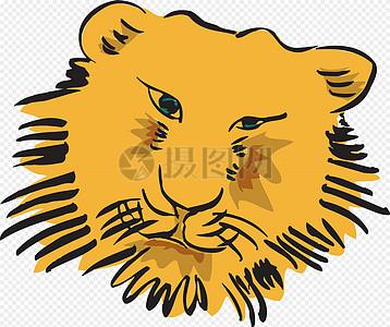 歪着的狮子头图片