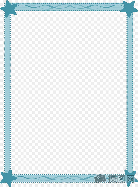 蓝色边框素材图片