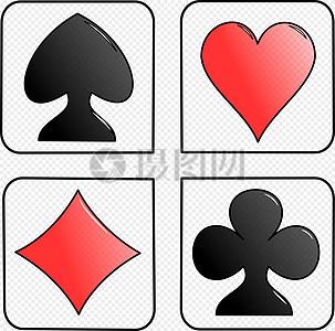 扑克牌共有几种花色_扑克牌花色高清图片