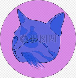 蓝色的猫脸图片