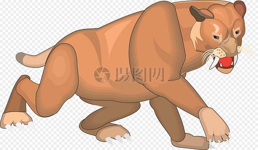 长巨大前牙的猫科动物图片