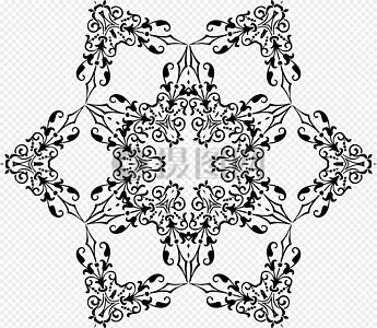 黑色六边形装饰图片