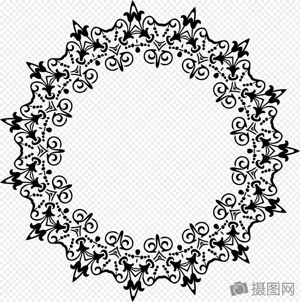 黑色圆形装饰画