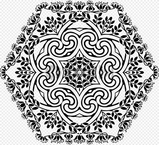黑色装饰六边形图片
