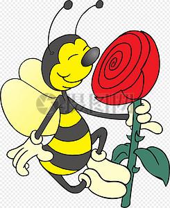 闻花香的蜜蜂图片