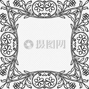 精美花枝边框图片