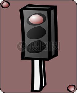 交通信号灯红灯图片