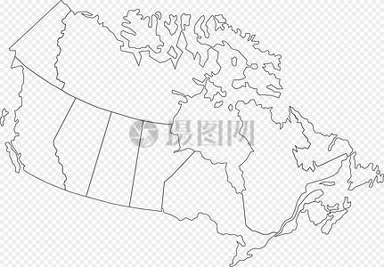 加拿大地圖高清圖片