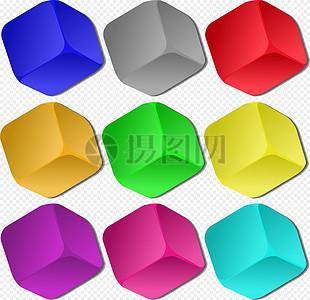 9个立方体图片