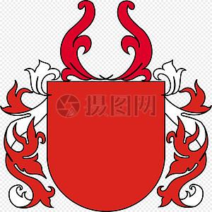 盾构, 纹章图片