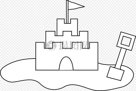 城堡图片简笔画