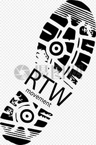 鞋印logo图片