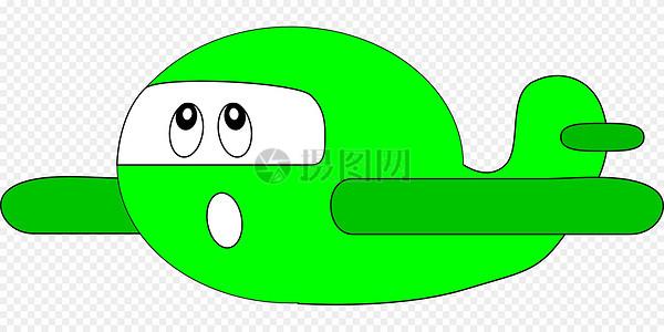 绿色卡通飞机图片