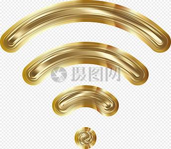 金色无线网络图标图片