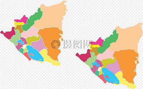 尼加拉瓜地图图片