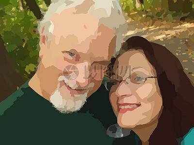 恩爱的夫妻图片