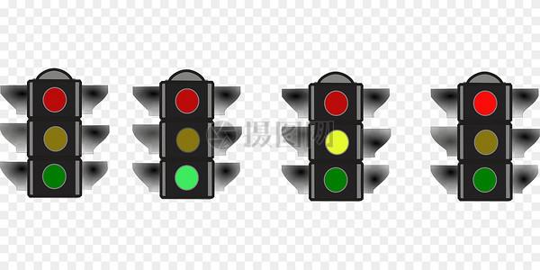 交通信号灯红绿黄灯图片